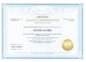 Certyfikat Płacę Terminowo